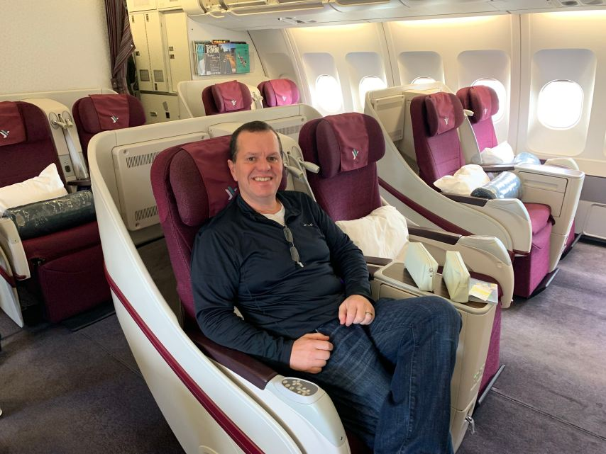 Air Italy Business Class Cabin Milan to New York JFK