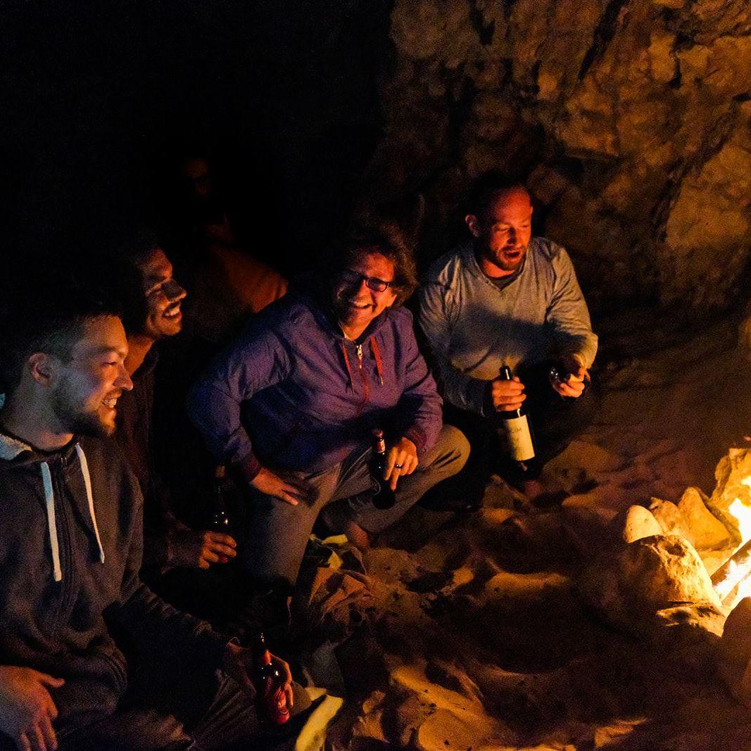 Cavemen Campfire at Praia das Furnas Portugal