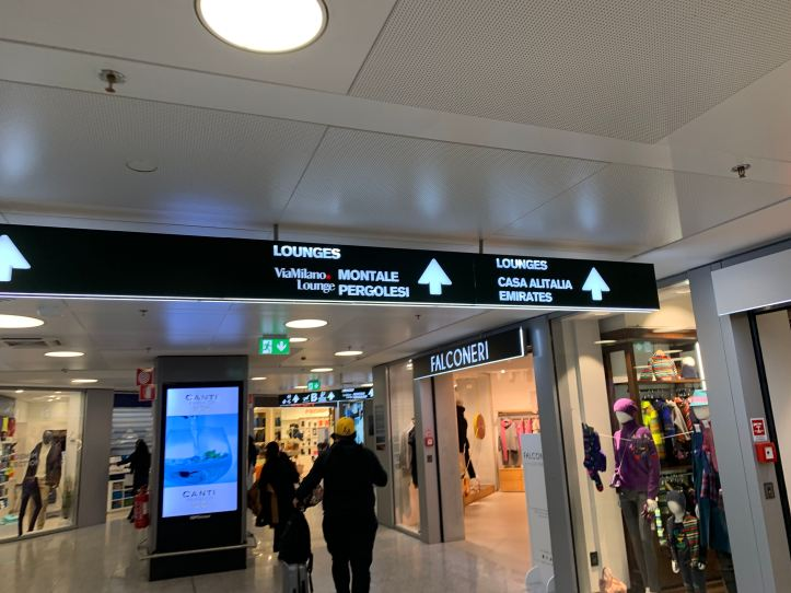 Priority Pass Lounge Malpensa Airport Terminal 1 Sala Montale Directions