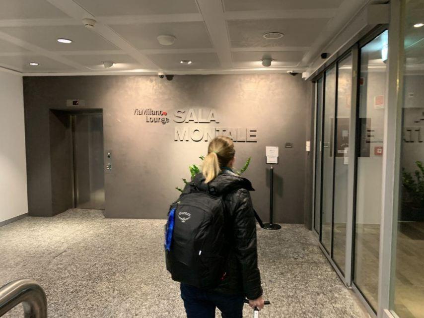 Priority Pass Lounge Malpensa Airport Terminal 1 Sala Montale Entrance