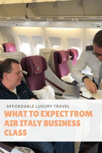 What to expect from Air Italy Business Class