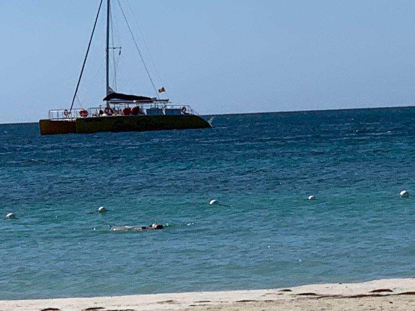 Swimming in Negril Jamaica