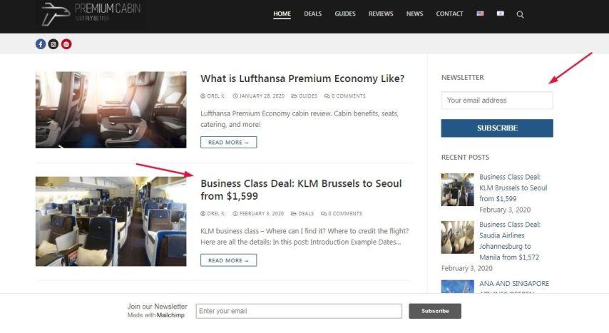 premium cabin website