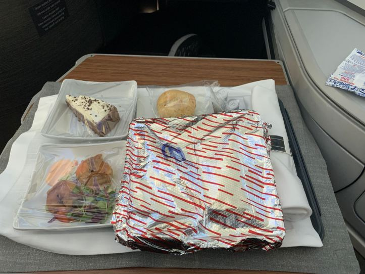 AA Business Class Meal ORD-LHR