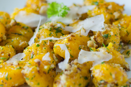 Pumpkin Gnocchi with Sage Infused Browned Butter Sauce