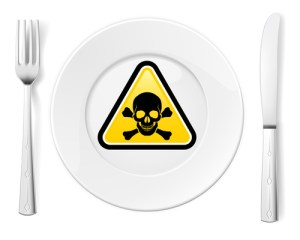 poison residue on dishes