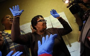 SEIU Holds Ebola Training For Laguardia Airport Workers