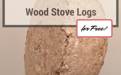 How to Make Firebricks (logs) and Wood Stove Logs for Free!