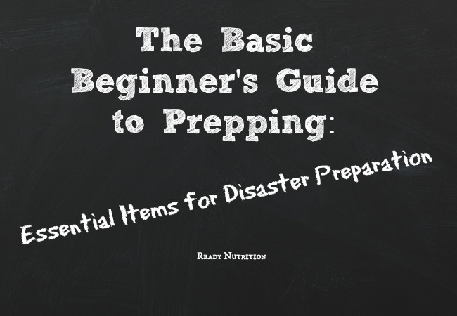 Essential items for disaster preparation