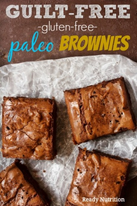 These fudgy treats are the best paleo and gluten-free brownies ever! Best of all, they are guilt free. Enjoy! #ReadyNutrition