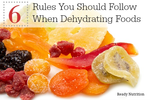 6 rules of dehydrating