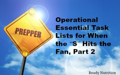"""Operational Essential Task Lists for When the """"S"""" Hits the Fan"""