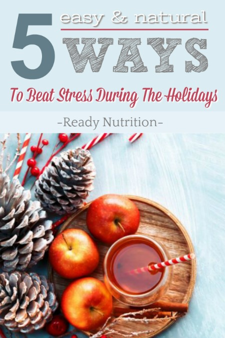 The joyous time of the holiday season brings with it several factors that can cause stress to become out of control.  But there a few simple and all natural ways that work wonders for combating that extra pressure this season!