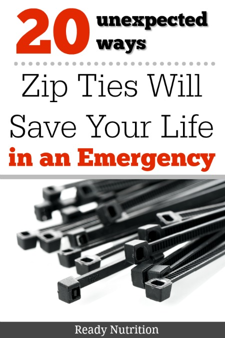 Preppers may be known for their beans, bullets, and band-aids, but in a survival situation, they may also want to be known for their vast knowledge of zip-tie uses to get them out of hairy situations. #ReadyNutrition #EmergencyPreparedness #GetPrepped