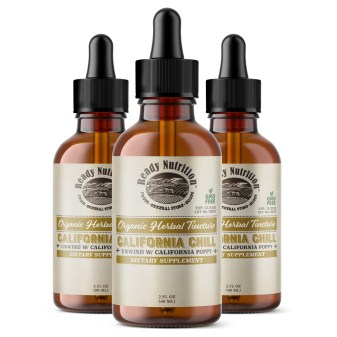 """As humans drift toward a more holistic and natural approach to health and wellness, herbal tinctures grab some of the spotlights. And as stress becomes a bigger concern for so many, Ready Nutrition's """"California Chill"""" can provide some much-needed calm in our ever stressful lives. #ReadyNutrition #NaturalMedicine #CaliChill"""