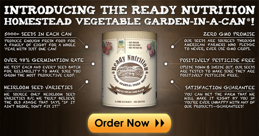 Ready Nutrition Garden Kit In A Can Information