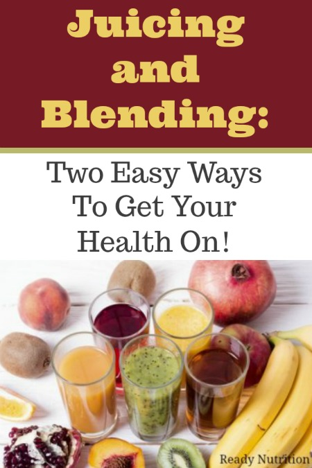 Ten servings of fruits and vegetables a day may seem like a lot, but thankfully, there are two easy ways to get them in: juicing and blending. Both methods are also great ways to get kids who are picky eaters (and adults who are picky eaters!) to get more nutrients in every day. #ReadyNutrition #Health #DietGoals