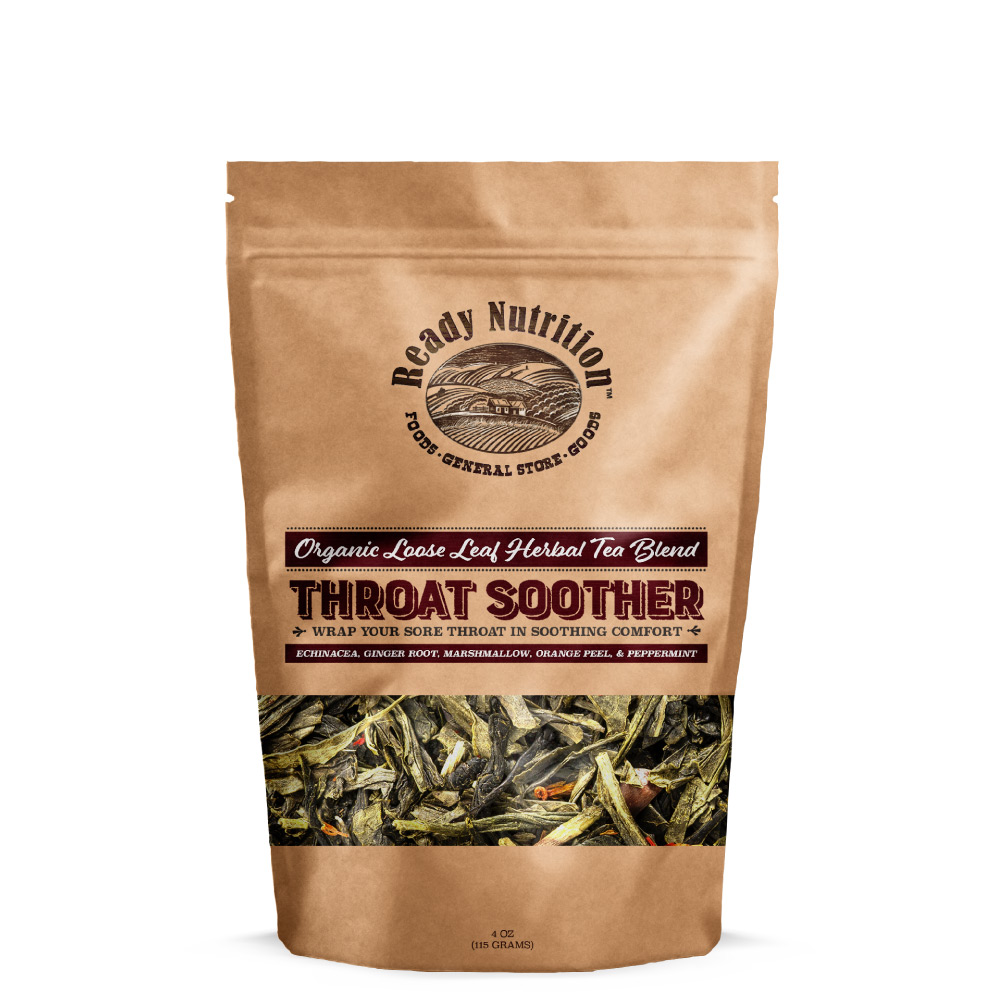 Ready Nutrition™ Throat Soother Loose Tea Blend for Dry, Irritable Sore Throat