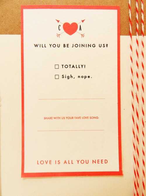 Funny Rsvp Wording Card