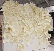 I can't get over these paper flowers - they're like a modern secret garden!