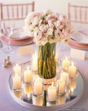 Is there anything more romantic than flowers by candlelight? These could make for a great and cost-effective centrepiece!
