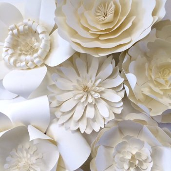A close up of the paper flowers. There's a DIY on YouTube for these! Apologies in advance to my future bridesmaids; you already know we'll be doing this!