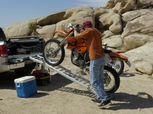 Loading a Dirt Bike