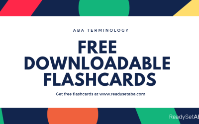 Dive Into ABA Terminology With These Free Downloadable Flashcards