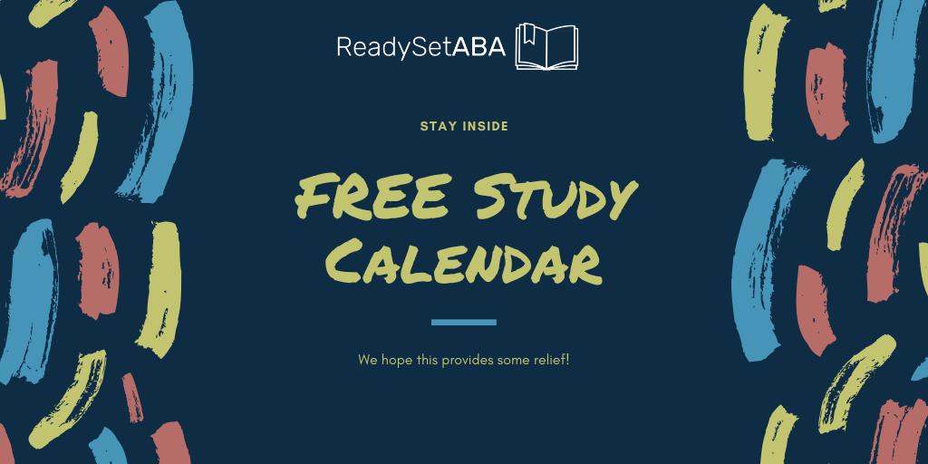 FREE Study Calendar