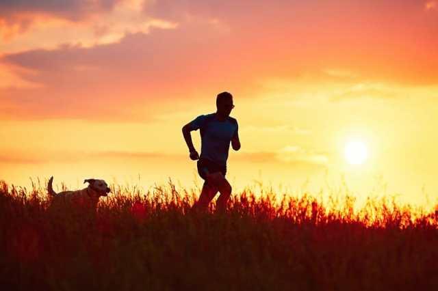 Running at night can cause night sweats.