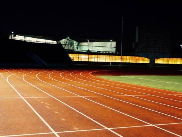 Track running surface
