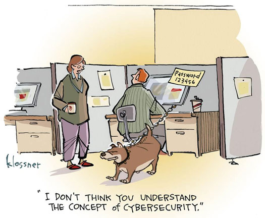Cyber-Sicherheitsbewusstsein-Cartoon