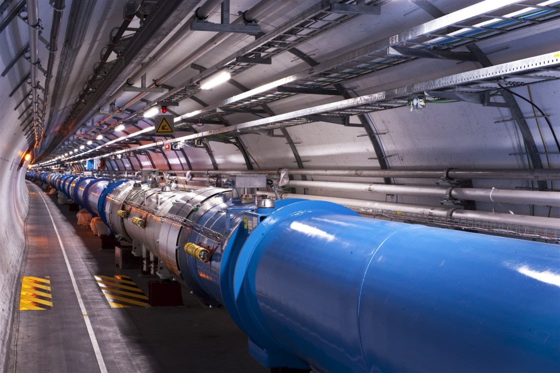 July 4, 2012 - CERN announces the discovery of a new particle with properties consistent with the Higgs boson after experiments at the Large Hadron Collider