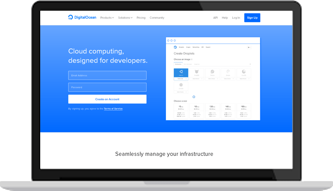 DigitalOcean cloud hosting