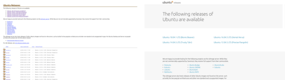 side-by-side comparison of the homepage before and after adding Vanilla Framework