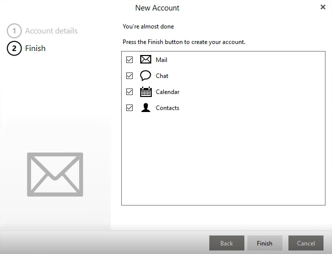 eM Client Sync Calendars and Contacts
