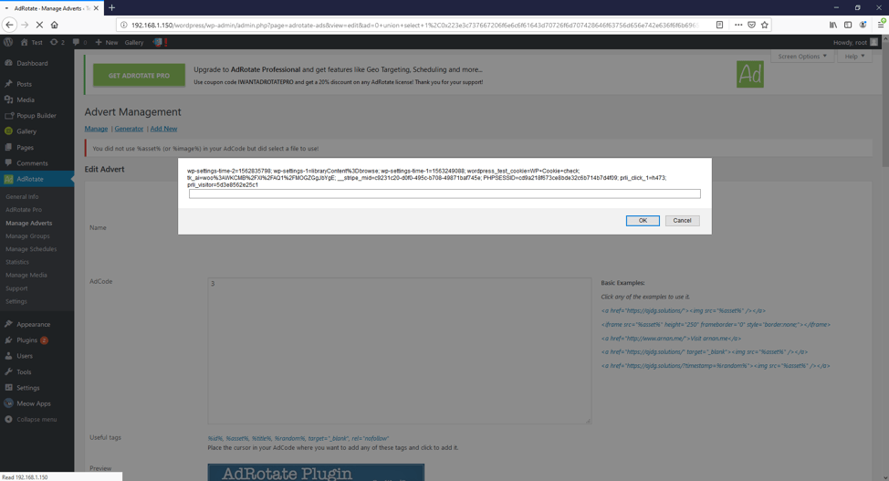 Figure 5: XSS caused by SQL Injection