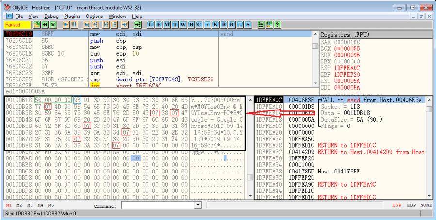 Figure 8. Collected victim's computer information is sent to C&C server
