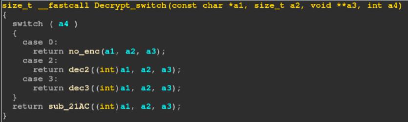 Figure 5: Decrypt Switch