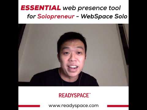 Essential web presence tool for Solopreneur - WebSpace Solo