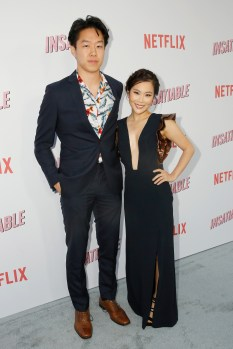 "LOS ANGELES, CA - AUGUST 09: Daniel Kang and Irene Choi attend Netflix's ""Insatiable"" Premiere And After Party on August 9, 2018 in Los Angeles, California. (Photo by Rachel Murray/Getty Images for Netflix) *** Local Caption *** Daniel Kang;Irene Choi"