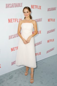 """LOS ANGELES, CA - AUGUST 09: Debby Ryan attends Netflix's """"Insatiable"""" Premiere And After Party on August 9, 2018 in Los Angeles, California. (Photo by Rachel Murray/Getty Images for Netflix) *** Local Caption *** Debby Ryan"""