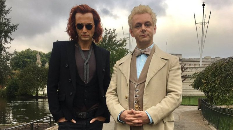 Good Omens Episode 1 recap in the beginning