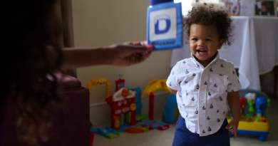 A baby learning words for the first time in Netflix series Babies season 1