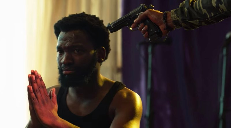 Shandu threatens the Pastor in Queen Sono season 1, episode 3 - The Devil's Toys - Netflix Series