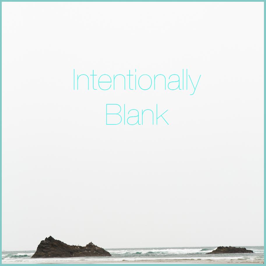 Write 31 Days Intentionally Blank