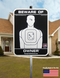 STS-1E - Beware of Owner Yard Sign Non Reflective - SOLD OUT.-0