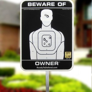 STS-1S - Beware of Owner 3M Reflective Yard Sign-0