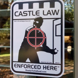 BRS-3D - 3-pack - Castle Law Enforced Here Decals-0